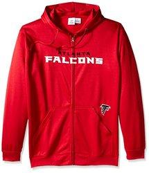 NFL Atlanta Falcons Men's Full Zip Poly HD Sweatshirt - Red - Size: 5X