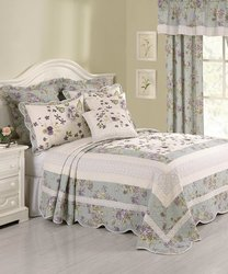 Modern Heirloom Avaleen Embroidery Bedspread - Multi - Size: King