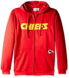 NFL Kansas City Chiefs Men's Full Zip Poly HD Sweatshirt, 6X, Red