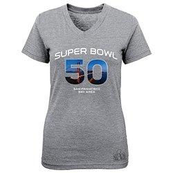 NFL San Francisco 49ers Super Bowl 50 Girl's Tee - Grey - Size: M
