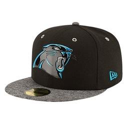 New Era NFL 59Fifty Black Out Cap - Men's Carolina Panthers