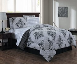 8-piece Comforter Set Biab: Mari/queen/Black