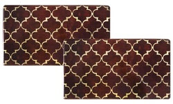 Cook N' Comfort Memory Foam Kitchen  -  Mats (2-Pack) - Trellis Chocolate