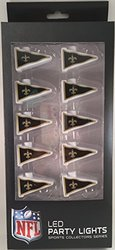 NFL New Orleans Saints LED Pennant Party Lights