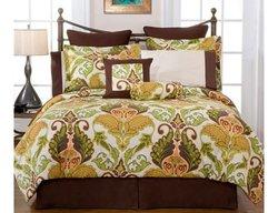 Pointehaven Hannah 12-Piece 100% Cotton Bedding Ensemble - Size: Full