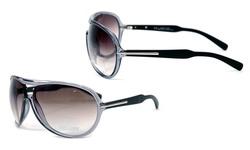 Anais Gvani Aviator Sunglasses - Grey w/Stripe Accent