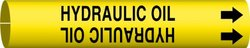 "Brady ""Hydraulic Oil"" Black On Yellow Printed Strap-On Pipe Marker(4199-G)"