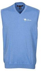 Oxford NCAA Citadel Bulldogs Men's Bristol Sweater Vest (Atlantic Blue, XX-Large)