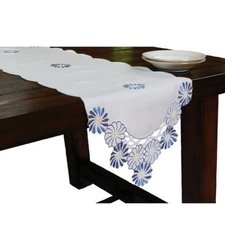 "Xia Home Cutwork Embroidered Flower Table Runner - Multi - Size: 15""x54"""
