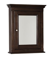 22.5-in. W X 30-in. H Traditional Birch Wood-Veneer Medicine Cabinet In Walnut