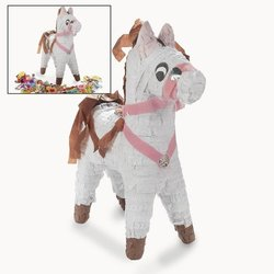 "Fun Express 9"" x 17 1/2"" White Horse Pinata"