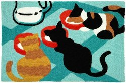 "Comfort Home Jellybean 21"" X 33"" Kitties & Kream Doormat Rug - Multi"