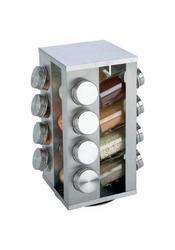 B & F System Chefs Secret 16-Jar Stainless Steel Rotating Spice Rack