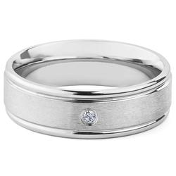 West Coast Jewelry Men's Cubic Zirconia Eternity Rings - SS - Size: 11