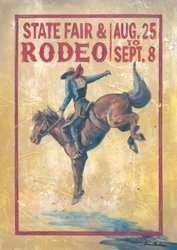 Oopsy daisy State Fair and Rodeo Stretched Canvas Art by Aaron Christensen, 22 by 31.5-Inch
