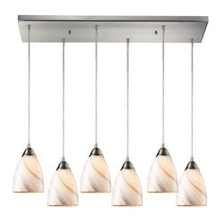 Elk Lighting 527-6RC-A Autumn Pierra 6 Light Pendant