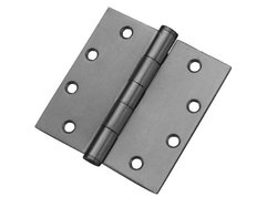 "Don-Jo PB94545 Stainless Steel 5 Knuckle Full Mortise Plain Bearing Template Hinge, Satin Stainless Steel Finish, 4-1/2"" Width x 4-1/2"" Height (Pack of 24)"