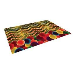 "Kess InHouse Deepti Munshaw ""Chevron and Dots"" Rainbow Outdoor Floor Mat/Rug, 5 by 7-Feet"