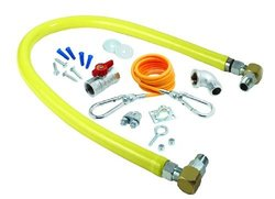 T&S Brass Gas Hose with Fittings Installation Kit (HG-2D-48SK)