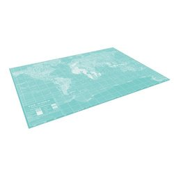 """Kess InHouse Catherine Holcombe """"Welcome to my World"""" Outdoor Floor Mat/Rug, 4-Feet by 5-Feet"""