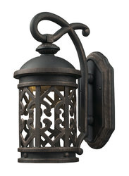 Elk Tuscany Coast Cast Aluminum Outdoor Wall Sconce - Weathered Charcoal
