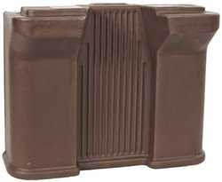 Carlisle Six Star 668701 Standard Food Bar Leg, Brown