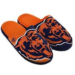 NFL Chicago Bears Split Color Slide Slipper, Small, Blue