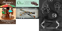 "CybrTrayd 4.5"" Halloween Lollipop Supply Kit with Chocolatier's Guide"