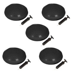 Simply Sports Fitness and Balance Disc Seat, 13-Inch Diameter - (Set of 5), Black