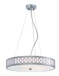 Trans Globe Lighting MDN-904 5-Light Olympic Rings Large Pendant Light, Brushed Nickel