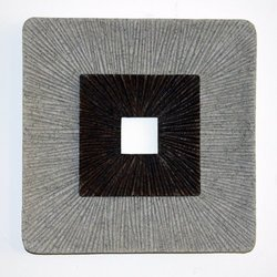 Screen Gems 19 by 2.36-Inch Encaved Square Wall Art, Ribbed Finish