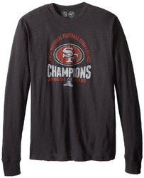 NFL San Fran 49ers 2012 NFC Champs Long Sleeve Shirt - Black - Size: M