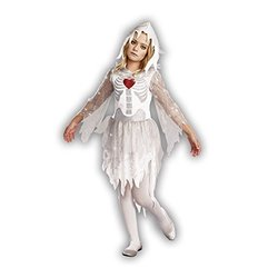 Dreamgirl Girl's Sweet N Spooky Zombie Costume - White - Large