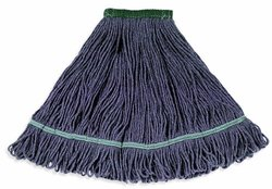 "Wilen A03012, Jean Clean Looped End Wet Mop, Medium, 1-1/4"" Tape Band (Case of 12)"
