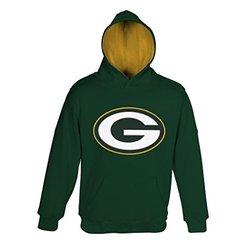 "NFL Green Bay Packers 4-7 ""Primary"" Pullover Hoodie, Medium, Hunter"