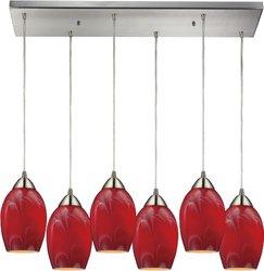Elk Lighting 10222/6RC-MEL Honey Melon Favela 6 Light Pendant