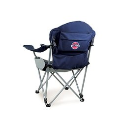 Detroit Pistons Reclining Camp Chair (Navy)