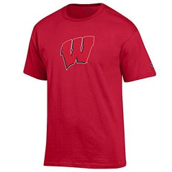 NCAA Wisconsin Badgers Men's Short Sleeve Jersey Tee - Scarlet - SIze: Large