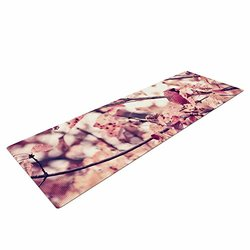 "Kess InHouse Qing Ji ""Angry Bird in Fall Leaves"" Nature Yoga Exercise Mat"