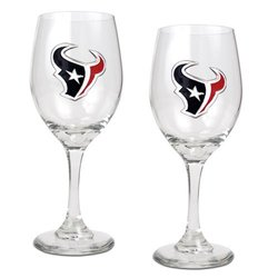 Great American Set of 2 NFL Houston Texans Wine Glass Set