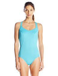 TYR SPORT Women's Solid Halter Controlfit Swimsuit Blue