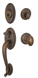 Fusion Hardware H-02-S4-0-MDB Elite Collection Quincy Two-Piece Interior Handleset with Egg Knob, Medium Bronze