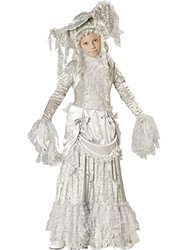 Ghostly Lady Grey Victorian Halloween Costume - Size: 8