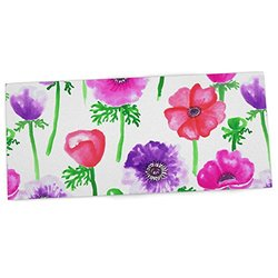 "KESS InHouse Anneline Sophia ""Anemones"" Pink Flowers Office Desk Mat, Blotter, Pad, Mousepad, 13 by 22-Inches"