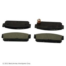 Beck/Arnley Premium Semi-metallic Disc Brake Pads 082-1443