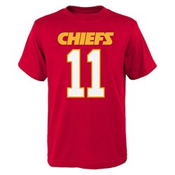 NFL Kansas City Chiefs Boy's Alex Smith Tee - Red - Size: 2X (18)