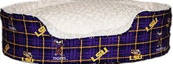 Pampered Pets Louisiana State University Oval Bed - Size: XL