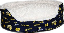 Pampered Pets The University of Michigan Collection Oval Bed - Size: Large