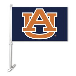 NCAA Auburn Tigers Car Flag With Wall Bracket