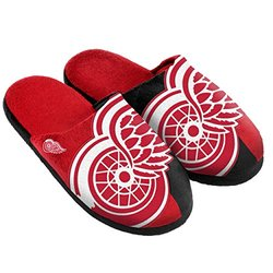 Forever Collectibles Unisex NHL Detroit Wings Slipper - Red - Size: S